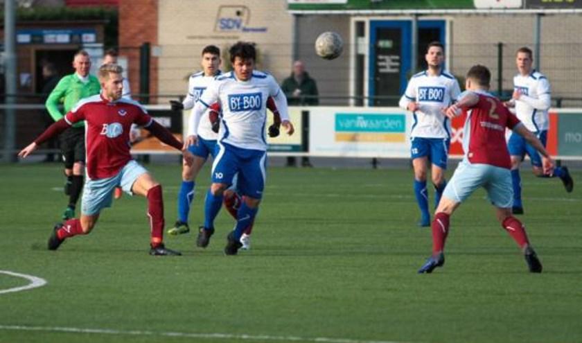 SDVB redde het zaterdag niet op eigen veld tegen VV Scherpenzeel, 0-3. Foto: Melvin Taribuka