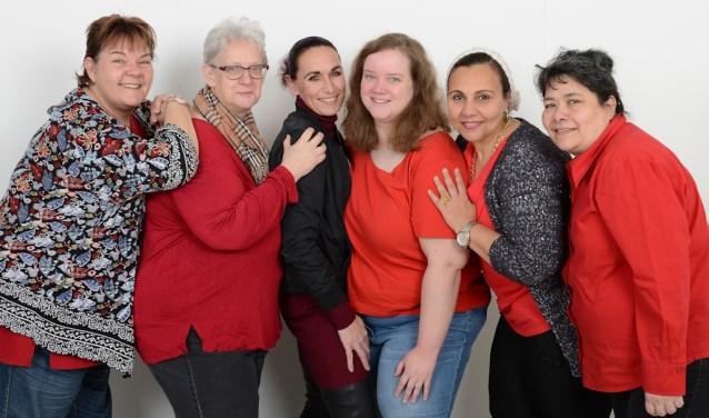 De werkgroep bestaat uit zes vrouwen. (Foto: Roelie 't Jong)