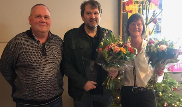 Van links naar rechts Edwin Menzing, Han Wiering en Esther Wiering.