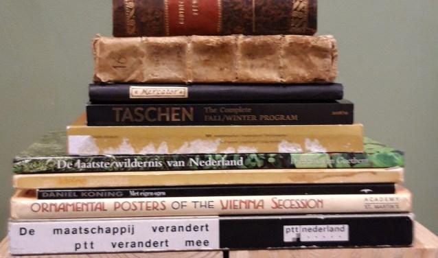 De boeken die dit keer gebruikt zijn voor Boekbeeld#2