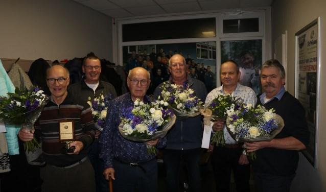 De leden die 50, 60 of 70 jaar verbonden zijn aan WZC.