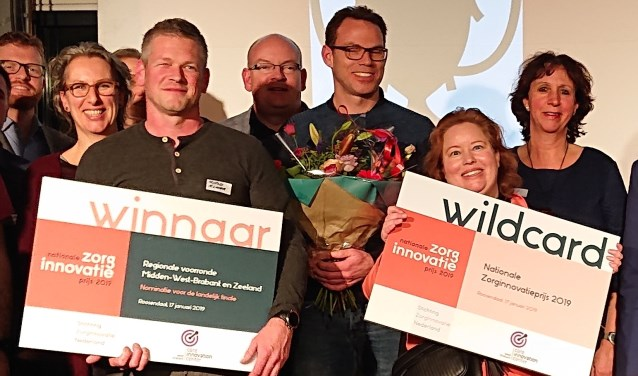 Winnaars regionale voorronde Zorginnovatieprijs 2019.