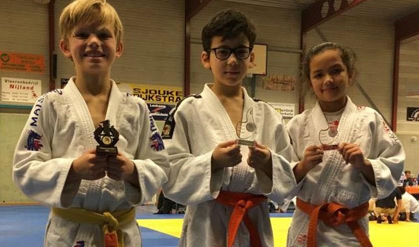 Mees Franssens, Yassin Ghafiki en Tara Pot waren enkele van de SJO-judoka's die zaterdag hun groei lieten zien op de tatami in Markelo.