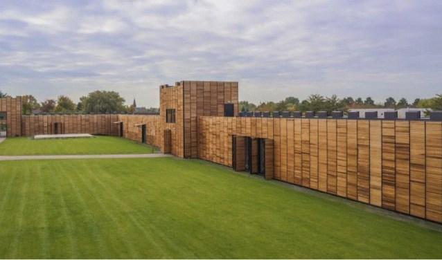 Op de plek waar vroeger een Romeins fort stond in De Meern, staat nu een moderne interpretatie.