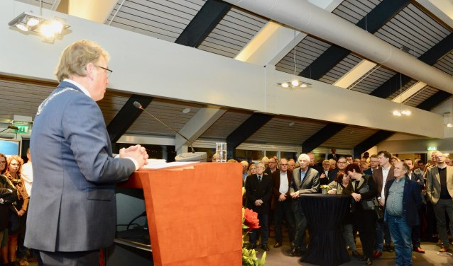Burgemeester Harry Keereweer hield de eerste nieuwjaarstoespraak van de nieuwe gemeente.