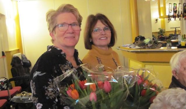 Marianne van Malsen (links) en Corry van de Wijngaard.