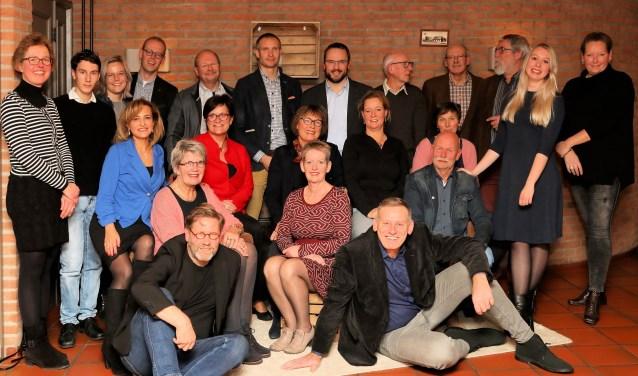 De kandidaten van Water Natuurlijk Vechtstromen. Anneke Beukers uit Westerhaar staat op plek 9.