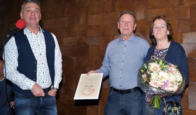 vlnr John Freriks, Hans Meijer, Wilma Meijer