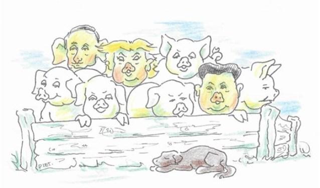D'r gòt zoo links en rechts in deezewèèreld veul goéd fout – en dè onder leiding van 'n stelletje wèèreldleiders die nie strooke.