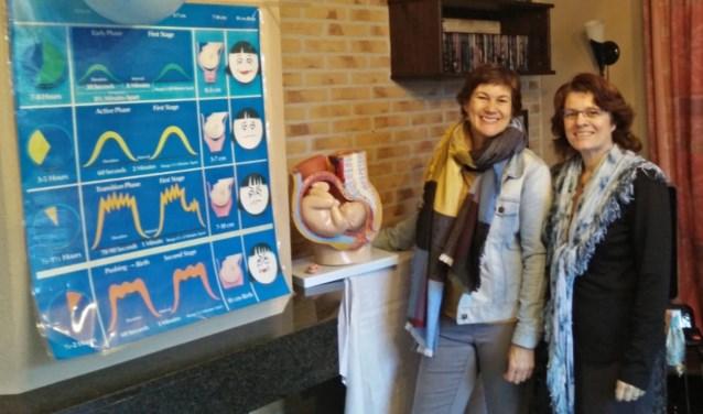 Zwangerschapsdocenten Radka van Vuuren en Erna Kost.