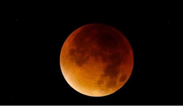 Op de vroege ochtend van 21 januari is een prachtige maansverduistering te zien.