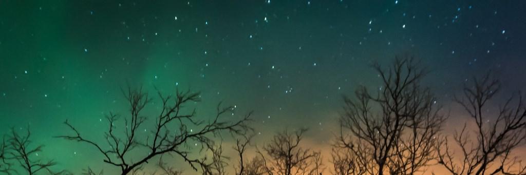 Noorderlicht en strooilicht, Kautokeino, december 2017 Foto: Jolanda Linschooten © Persgroep