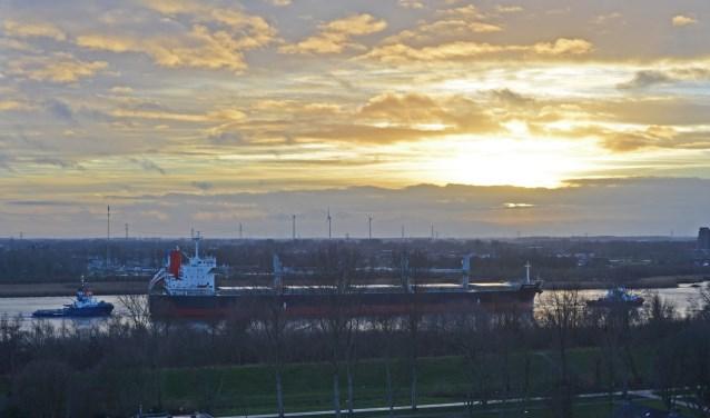 Coral Queen, bulk carrier op weg naar Trinidad.