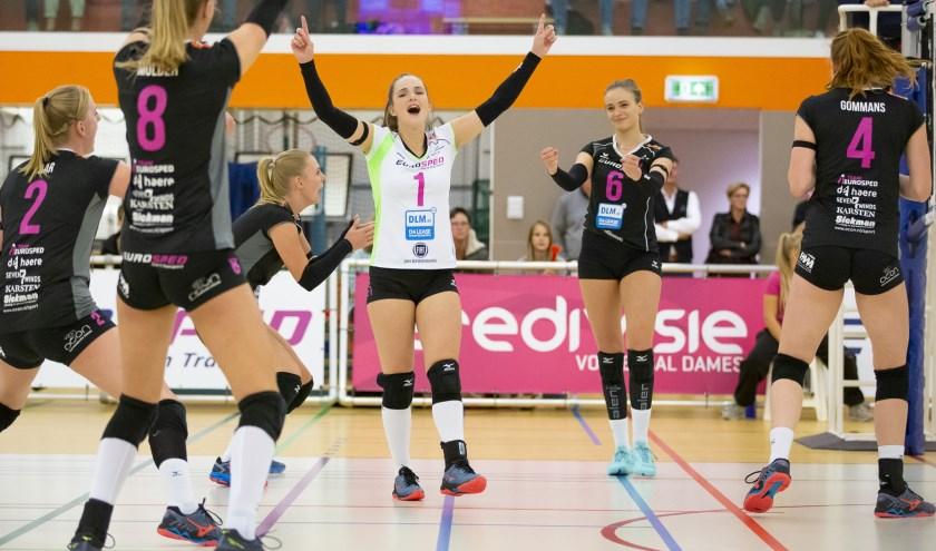 Eurosped speelt donderdag in de halve finale van de beker in en tegen Sliedrecht. Foto: Berto de Jong