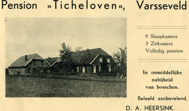 Pension Ticheloven in de Binnenheurne. Foto: Collectie Gerard Bruil