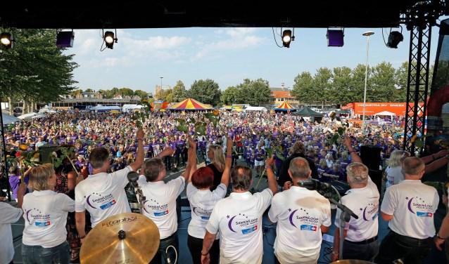 Organisatie Samenloop Harderwijk viert een feest van Hoop. Eigen foto