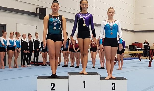 Eva van Voorst met goud op het hoogste podium