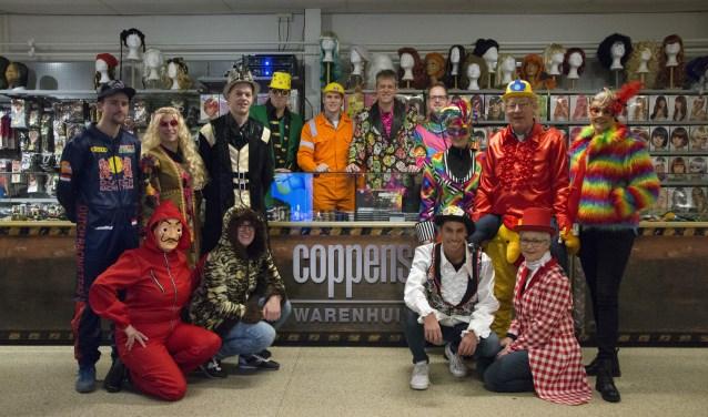 Het carnavalsteam van Coppens Warenhuis is er klaar voor.