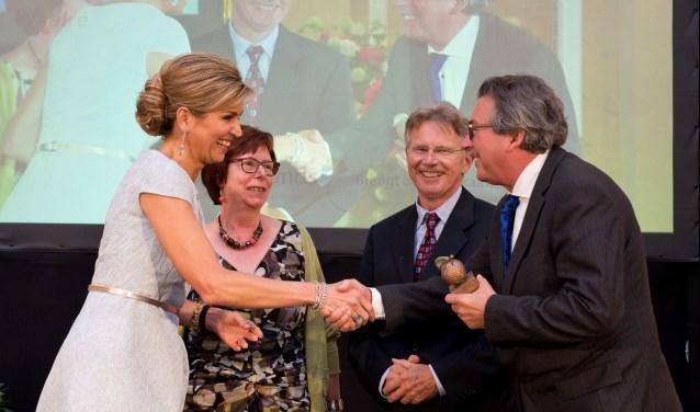 Hans van Baal bij de ontvangst van koningin Maxima. Foto: Bart Homburg.