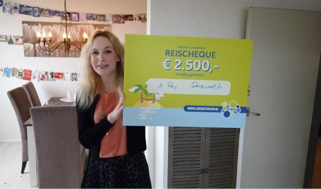 In december won Elis Pas uit Doorwerth de hoofdprijs van 2500 euro in de speciale Batterij-Nieuwjaarsloterij.