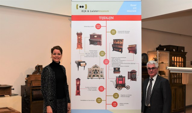 Wethouder Hester Veltman met de voorzitter Jos van Kroonenburg (her)openen het museum