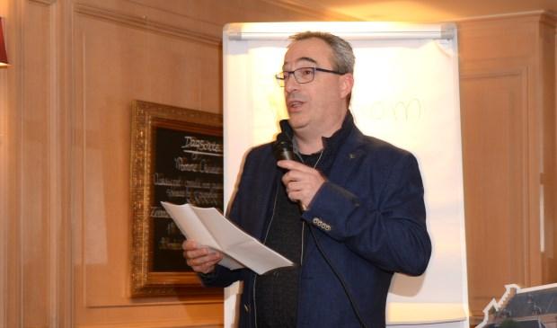 MVS-voorzitter Sancho Jansen hield traditiegetrouw een speech tijdens de nieuwjaarsreceptie in restaurant Ter Kade.