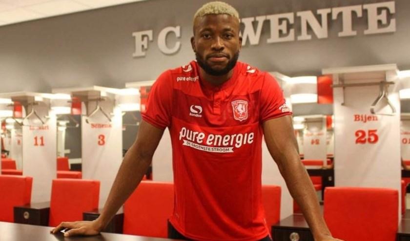 Fred Friday is de nieuwe spits van FC Twente.