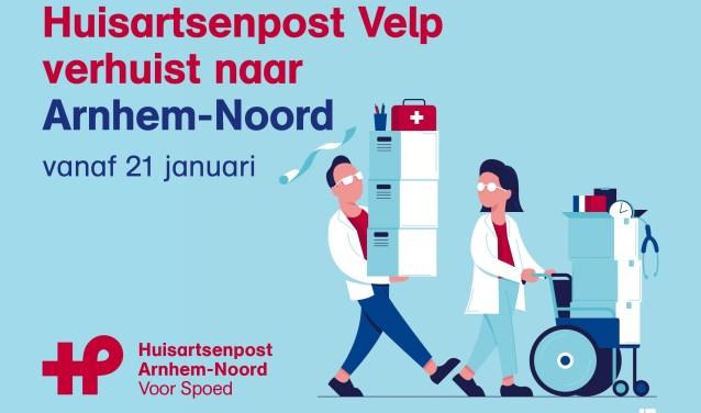 Met een reclamecampagne die ook in deze krant staat wordt de nieuwe Huisartsenpost Arnhem-Noord onder de aandacht gebracht.