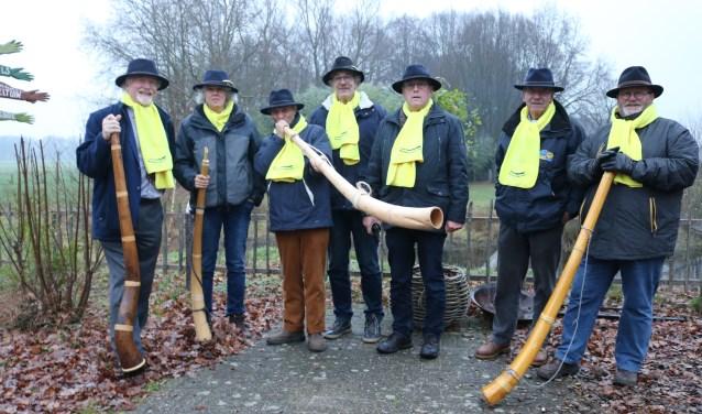 Het Midwinterhoorn Groep Lochem is bij veel evenementen aanwezig. (Foto: Arjen Dieperink)