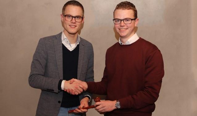 Bart Vlot (18) uit Oud-Alblas is gekozen als nieuwe voorzitter. (Foto: Privé)