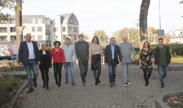 V.l.n.r.: Ronald en Elvira Gerressen, Wendy en Jan Koenen, Didier Orij, Petra Vermeulen, Marco Kreté, Wilfred van Manen, Femke Baars en Johannes Swart.