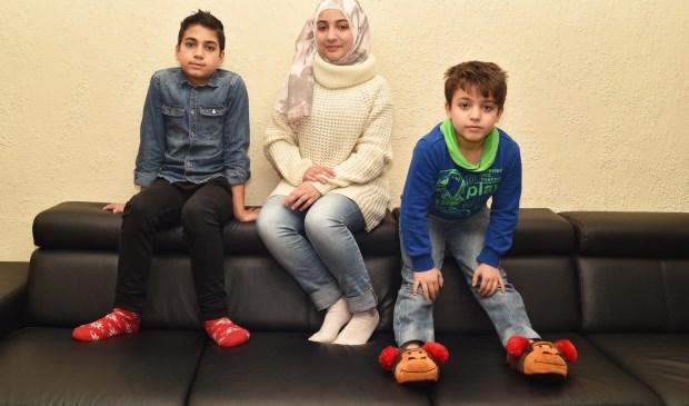 Syrische familie, beeld uit 'Kinderen van de Oorlog'.