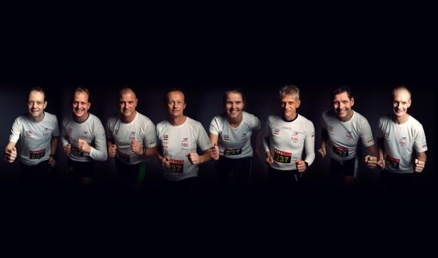Roparunteam, vlnr: G. Onstenk, M. Vaartjes, R. Storck, RJ. van Diest, N. Haarman, T. Klein Bleumink, M. Obbink, T. Schreurs.