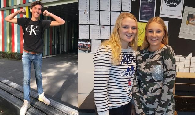 Xavier Aerden van hetZuidWestHoek College en Noa Bijl en Charissa Born van 't Ravelijn.