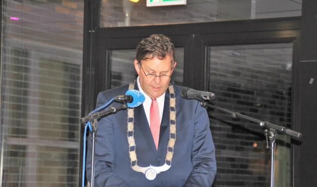 In Veluvine hield burgemeester Breunis van de Weerd weer de jaarlijkse Nieuwjaarstoespraak. Foto Dick Baas