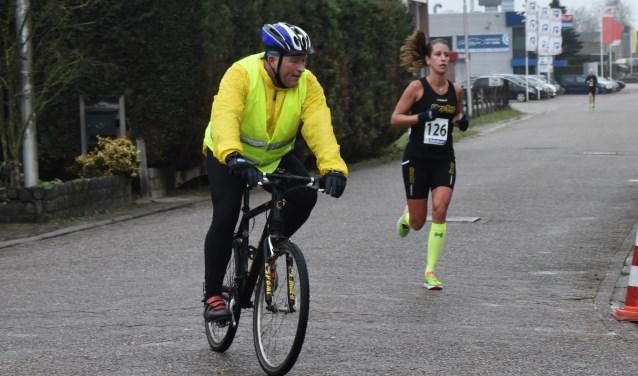 Sabine Wassink is eerste geworden op de tien kilometer bij de vrouwen.
