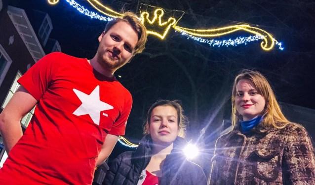Van links naar rechts: Niels de Wilde, Mandy Schmitz, Ilse Vijfschaft.