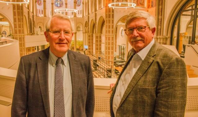 """Hans Jager en Jan Slegers kijken tevreden terug op het jaar dat ontmoetingscentrum DePetrus werd geopend. """"De bezoekersaantallen zijn boven verwachting en de reacties positief."""""""