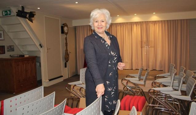 Anne-Wil Blankers zoekt naarstig naar ruimte voor haar huistheater, dat meeverhuist naar IJsselstein. (Foto: Lysette Verwegen)