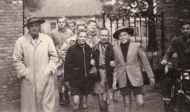 Ook deze foto van de verkennerij in Princenhage uit de jaren '50 van de vorige eeuw is te zien op de tentoonstelling 'Toen Opa en Oma nog jong waren' in het Princenhaags museum aan de Haagweg.