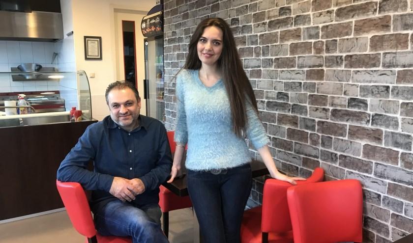 Diana Basmaji en Muhanad Alkhatib kijken uit naar de opening van Aleppo Kitchen.