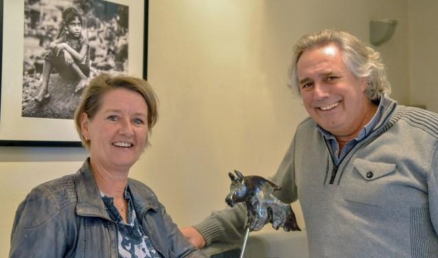 Heleen van Ulden en André Albers hebben in de Molenstraat hun House of Arts geopend. FOTO: Paul van den Dungen