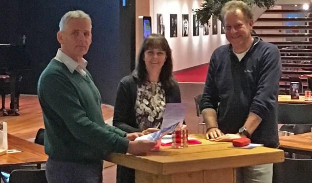 Enkele leden van Hoog Over Ede ter voorbereiding van de info-avond op 16 januari in Cultura.
