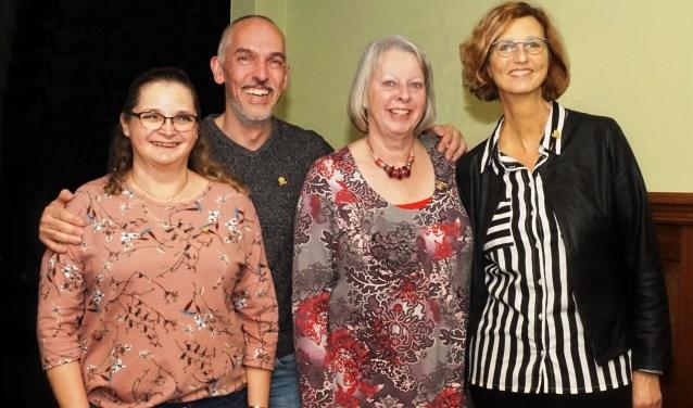 Marjolein Keurntjes, Ronny Hospes, Marianne van Elk en Ellen van Mastrigt.