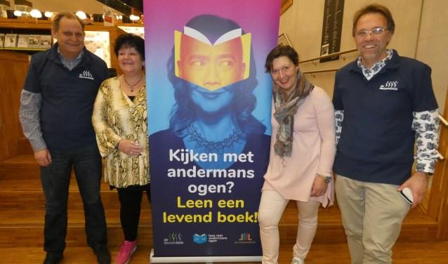 V.l.n.r. Frank Vaatstra, Ariaantje van Gent, Irma van Leerdam en Hermen Jan Rijks.