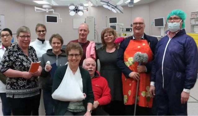 Toneelvereniging Hoge Hexel brengt humor in het hospitaal. Eigen foto.