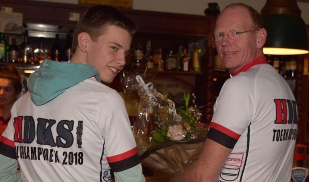 Clubkampioen Jelle ter Weene en toerkampioen Sander Pannekoek.