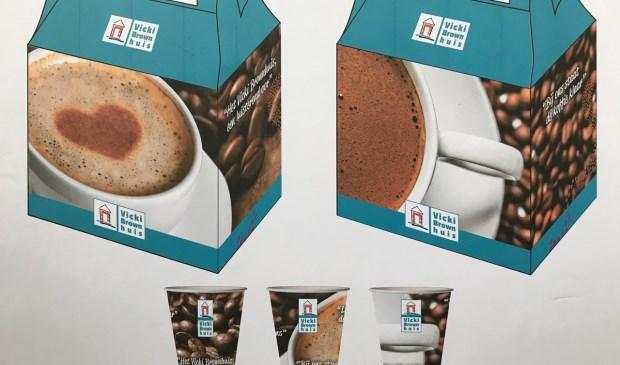 Door deze koffiekit te kopen, steunt men het Vicki Brownhuis en is er gelegenheid om de gevolgen van leven met kanker te bespreken.