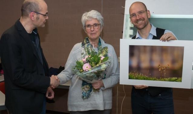 Yvonne in de prijzen. FOTO: Klaas Haitsma