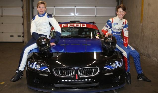 Milan en Maxime maken hun debuut in de autosport. Foto: Bas Kaligis